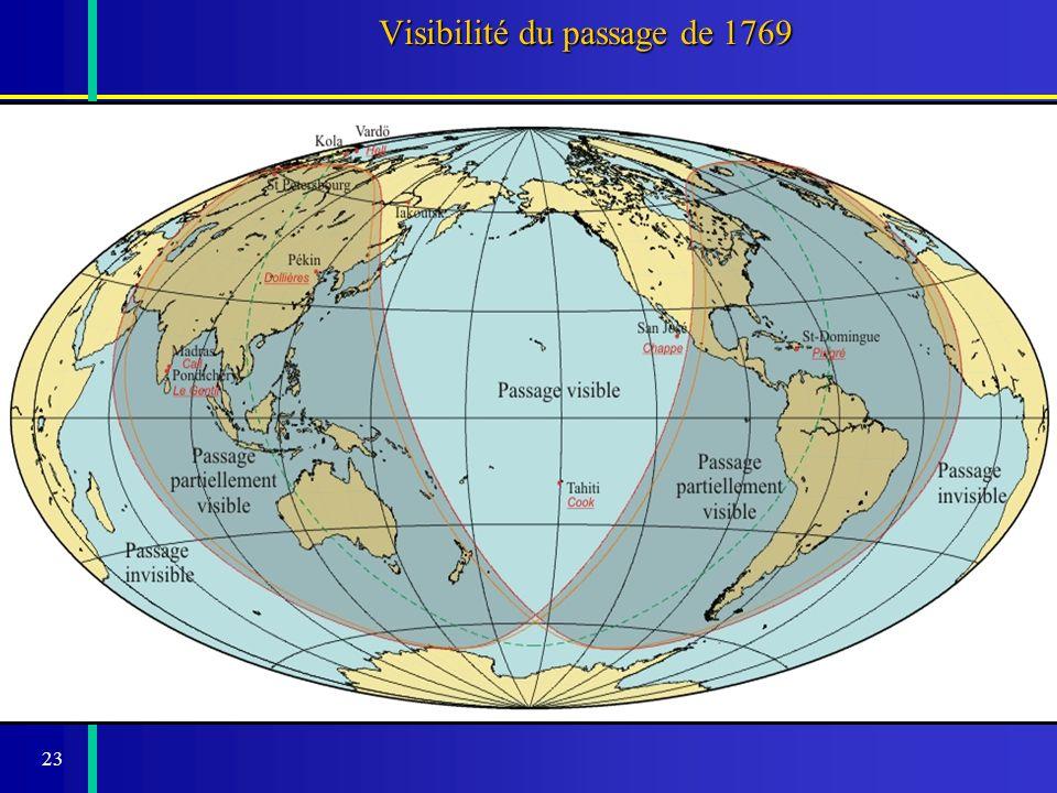 24 Expéditions organisées pour le passage de 1769