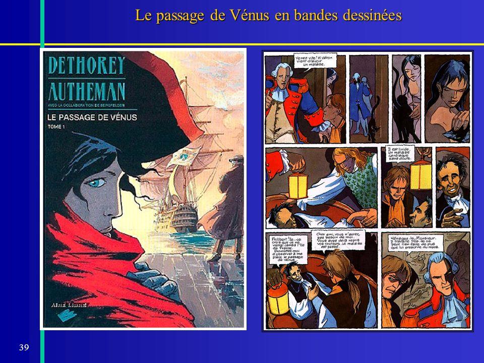 40 Le passage de Vénus et le projet VT-2004 Lobservatoire de Paris met à la disposition du public, des enseignants et de leurs élèves: - -des fiches pédagogiques -un livre de référence sur le passage de Vénus -un CD Rom de fac simile de documents historiques -louverture de sites dobservation le 8 juin à Paris et à Meudon -une exposition-accueil « Vénus au cœur du brasier » en mai et juin à lobservatoire de Paris -des conférences pour tous sur le passage de Vénus