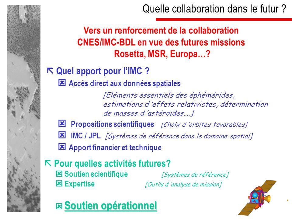 Quelle collaboration dans le futur . Quel apport pour lIMC .