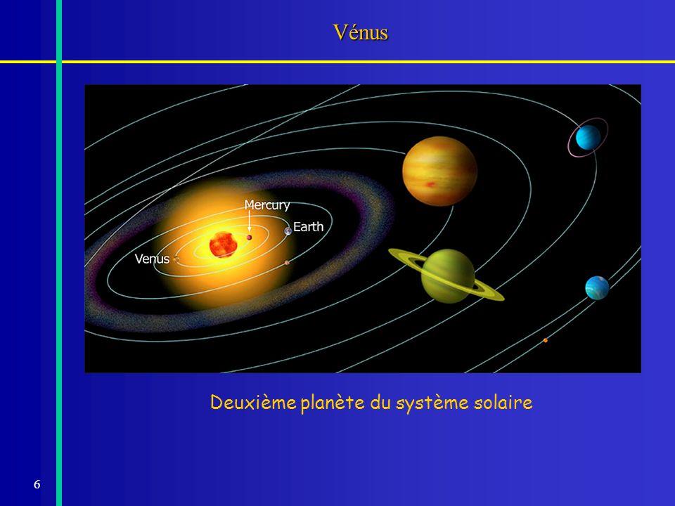 87 Les mesures de la distance Terre - Soleil Méthodedateparallaxedistance millions km Mars16729.5 - 10130 -140 Vénus17618.3 - 10.6125 - 160 Vénus17698.5 - 8.9145 - 155 Mars18628.84149 Flora18758.87148 Mars18858.78150 Vénus1874 - 828.790-8.880148.1 - 149.7 Éros19008.806149.4 Eros19308.790149.7 radar19708.79415149.5978 Viking+radar2000149.597870691