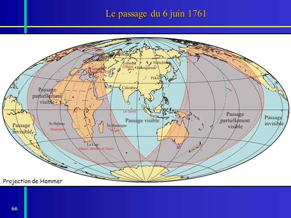 66 Le passage du 6 juin 1761 Projection de Hammer