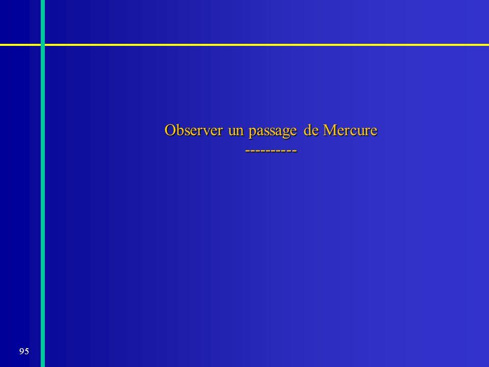 95 Observer un passage de Mercure ----------