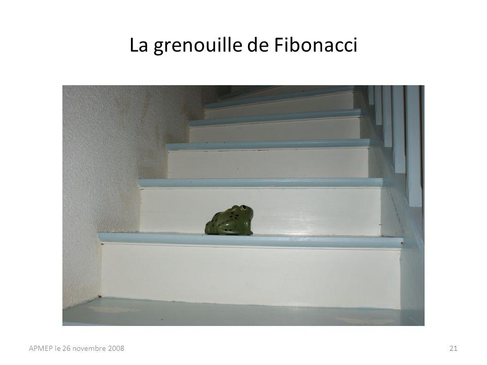 La grenouille de Fibonacci APMEP le 26 novembre 200821
