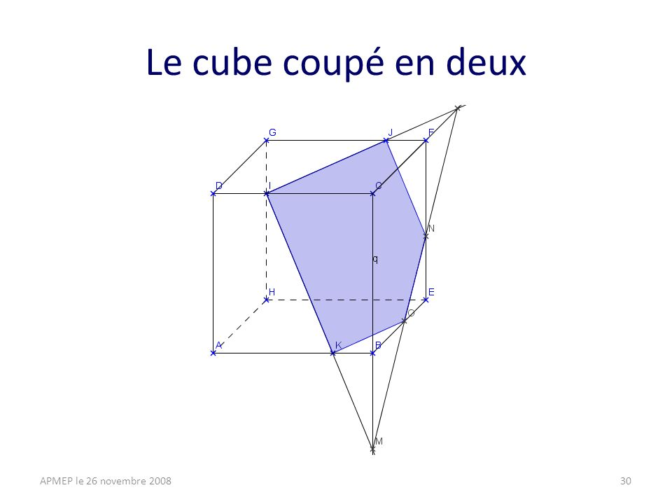 Le cube coupé en deux APMEP le 26 novembre 200830