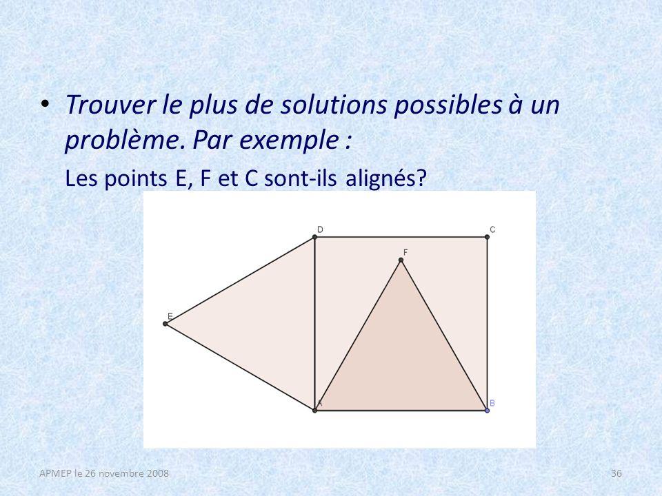Trouver le plus de solutions possibles à un problème.