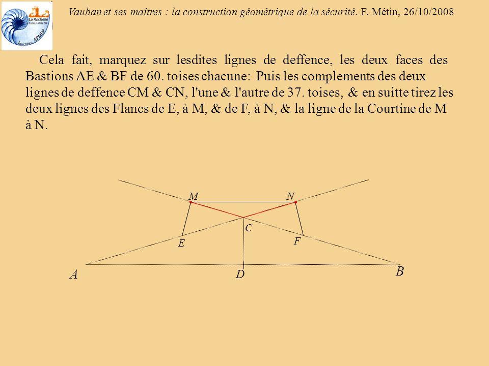 Vauban et ses maîtres : la construction géométrique de la sécurité.