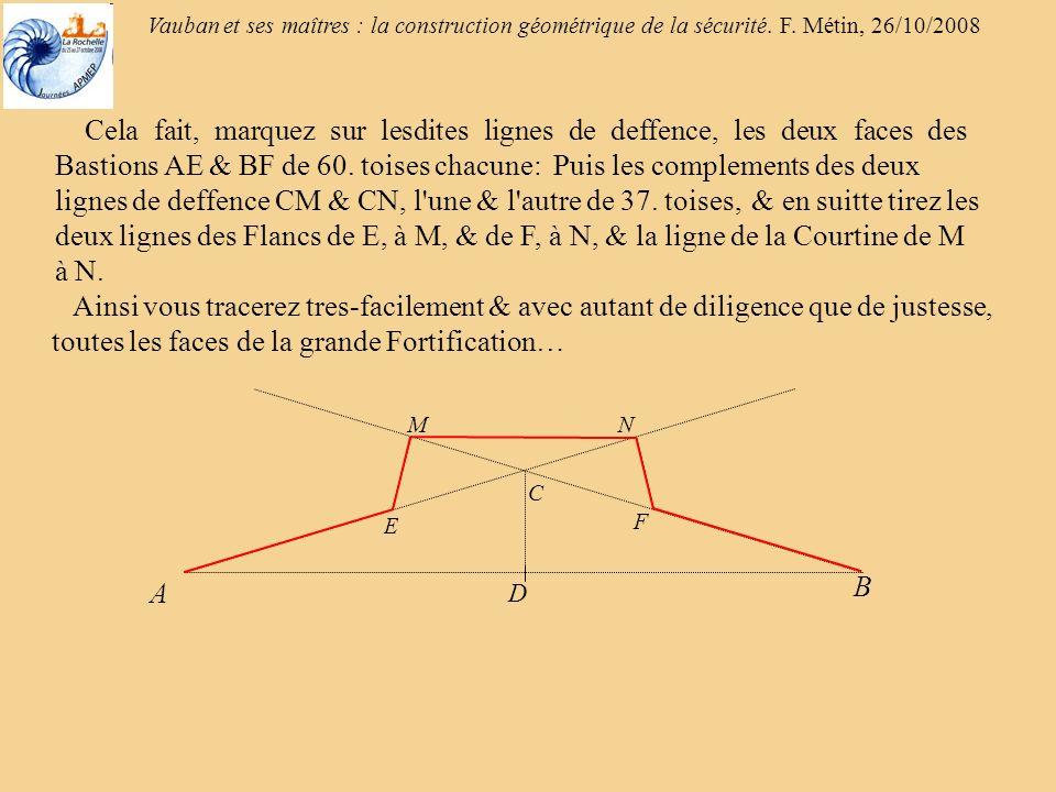 Vauban et ses maîtres : la construction géométrique de la sécurité. F. Métin, 26/10/2008 60°