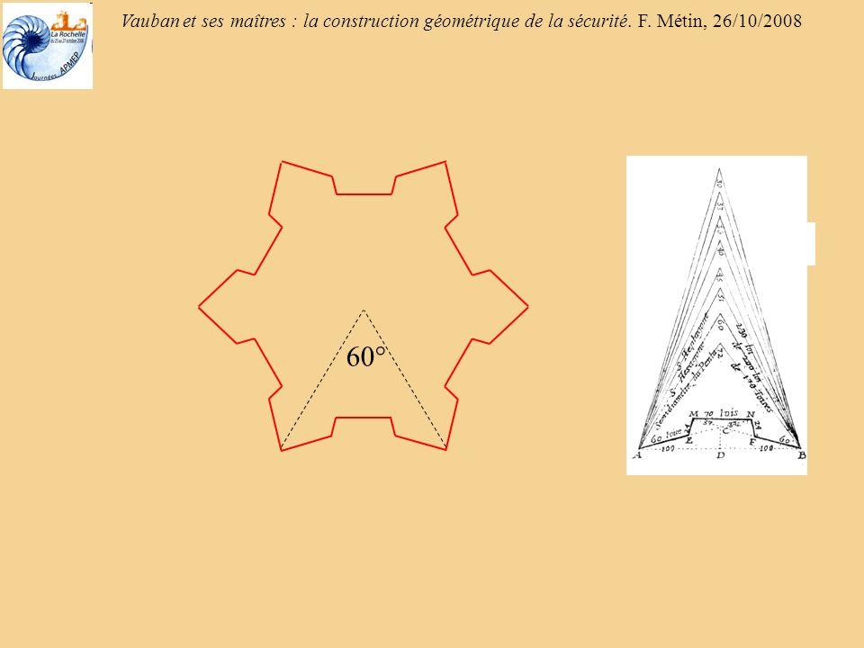 Vauban et ses maîtres : la construction géométrique de la sécurité. F. Métin, 26/10/2008 45°