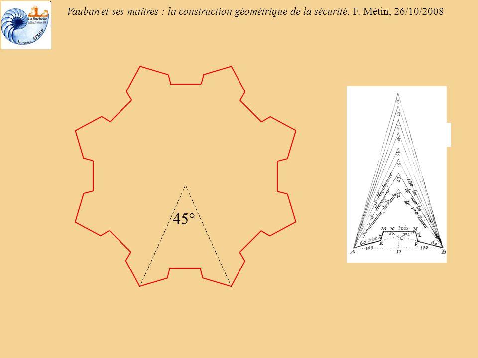 Vauban et ses maîtres : la construction géométrique de la sécurité. F. Métin, 26/10/2008 30°