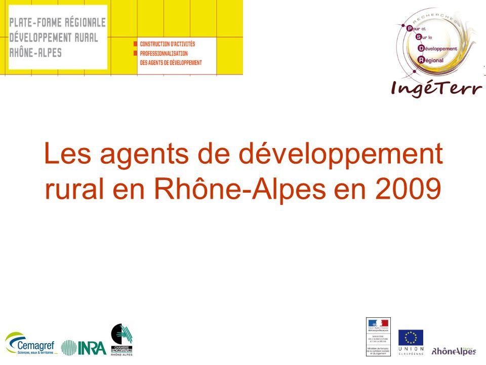 Les agents de développement rural en Rhône-Alpes en 2009