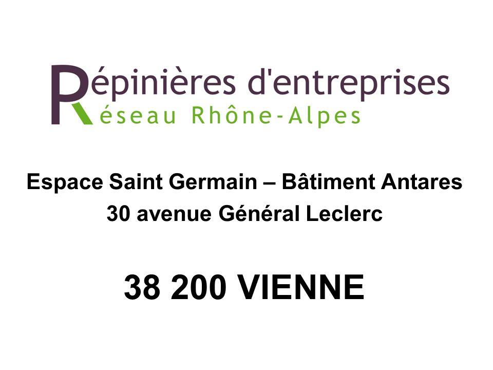 Espace Saint Germain – Bâtiment Antares 30 avenue Général Leclerc 38 200 VIENNE