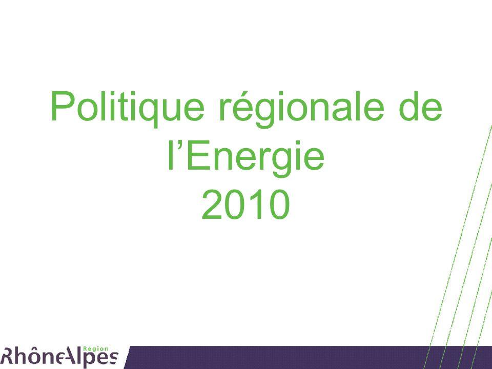 Politique régionale de lEnergie 2010