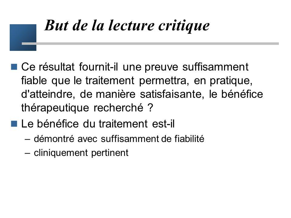 Service de Biostatistiques Service de Pharmacologie Clinique - EA 643 www.spc.univ-lyon1.fr/user/mcu/polycops La lecture critique des essais thérapeut