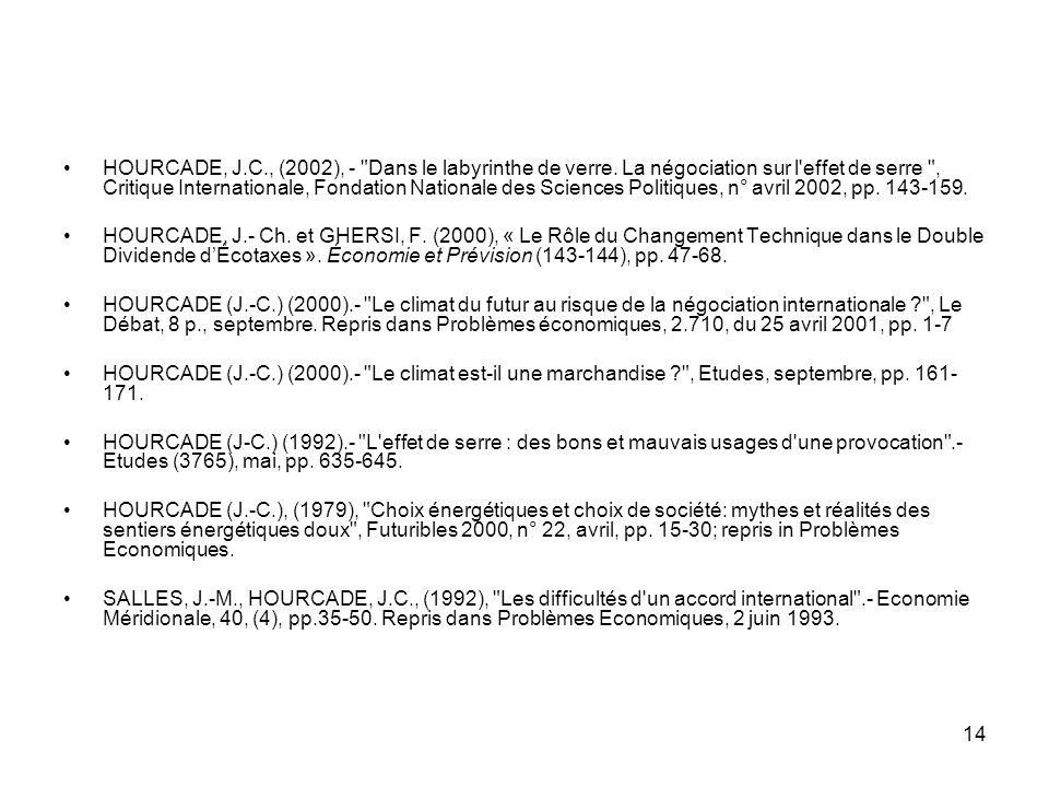 14 HOURCADE, J.C., (2002), -