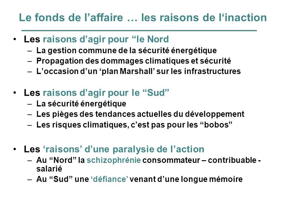 Le fonds de laffaire … les raisons de linaction Les raisons dagir pour le Nord –La gestion commune de la sécurité énergétique –Propagation des dommage