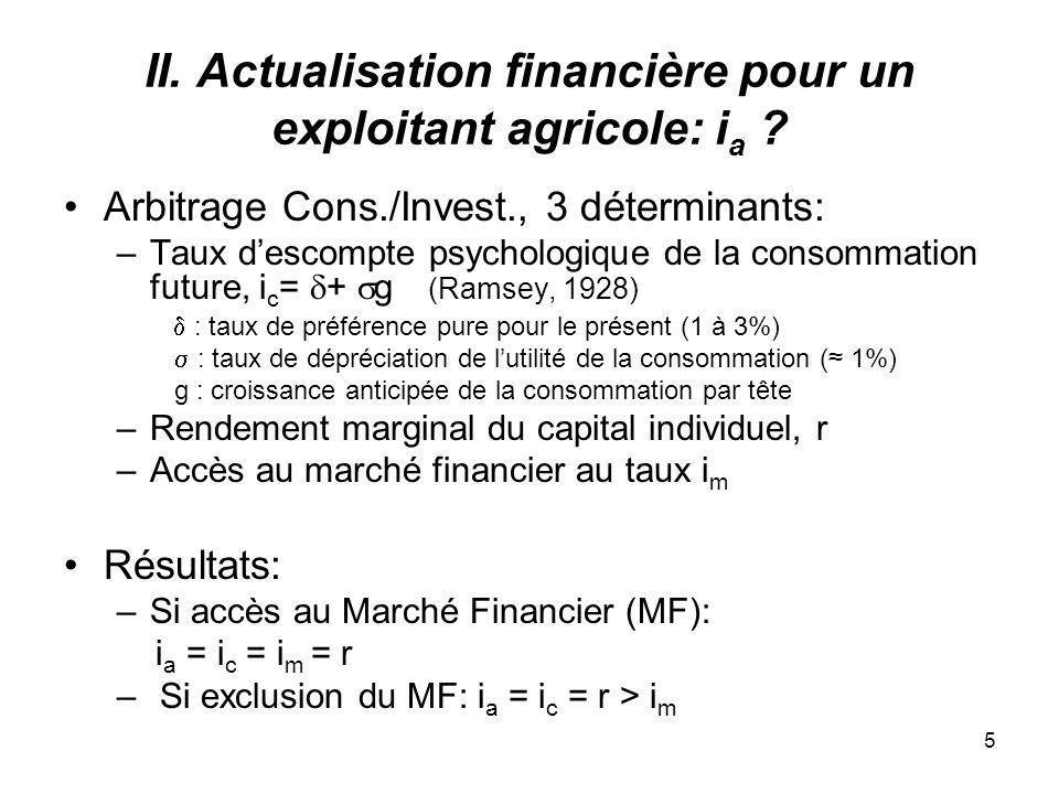 5 II. Actualisation financière pour un exploitant agricole: i a .
