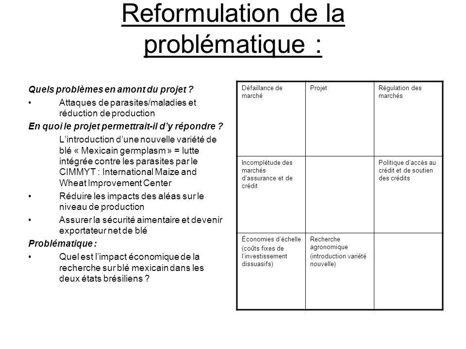 Reformulation de la problématique : Quels problèmes en amont du projet ? Attaques de parasites/maladies et réduction de production En quoi le projet p