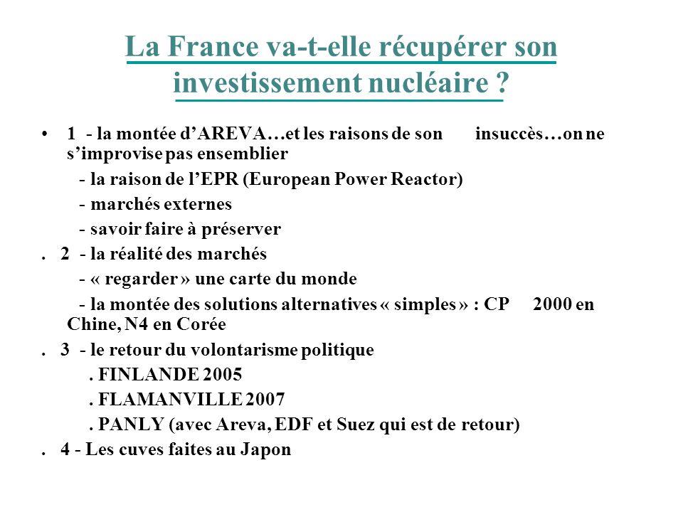 La France va-t-elle récupérer son investissement nucléaire ? 1 - la montée dAREVA…et les raisons de son insuccès…on ne simprovise pas ensemblier - la