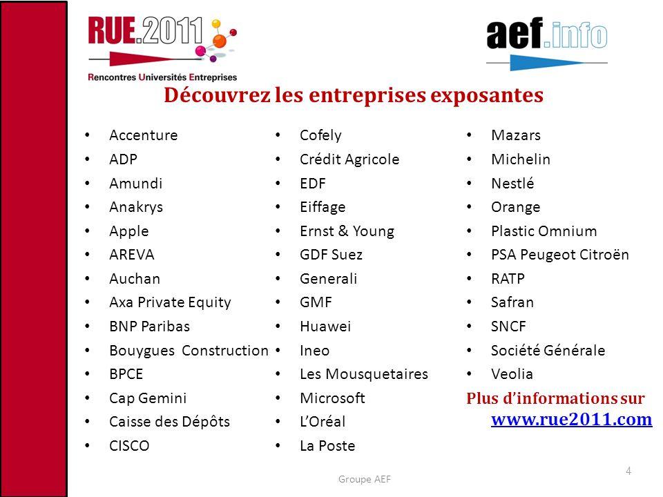 Découvrez les entreprises exposantes Accenture ADP Amundi Anakrys Apple AREVA Auchan Axa Private Equity BNP Paribas Bouygues Construction BPCE Cap Gem