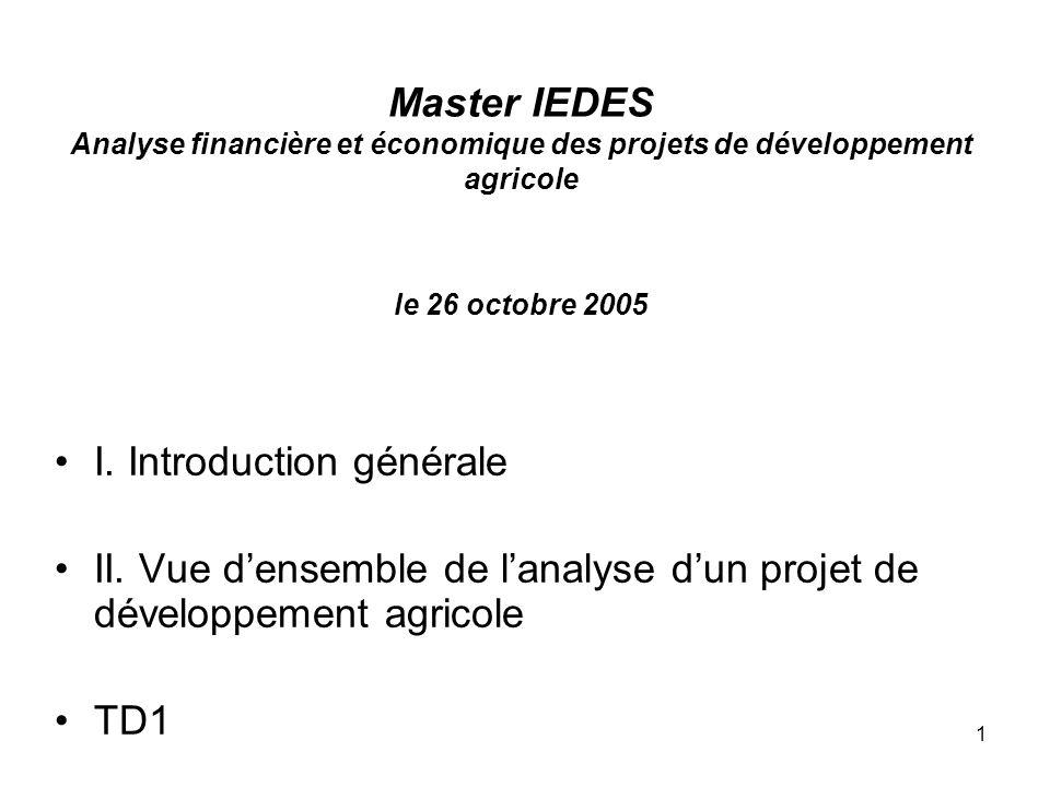 2 I.Introduction générale I.1. Objectifs du cours I.2.