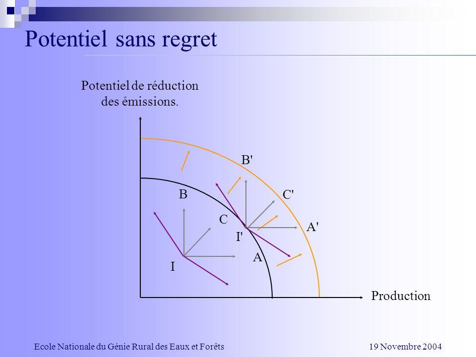 Impact des hypothèses Ecole Nationale du Génie Rural des Eaux et Forêts 19 Novembre 2004