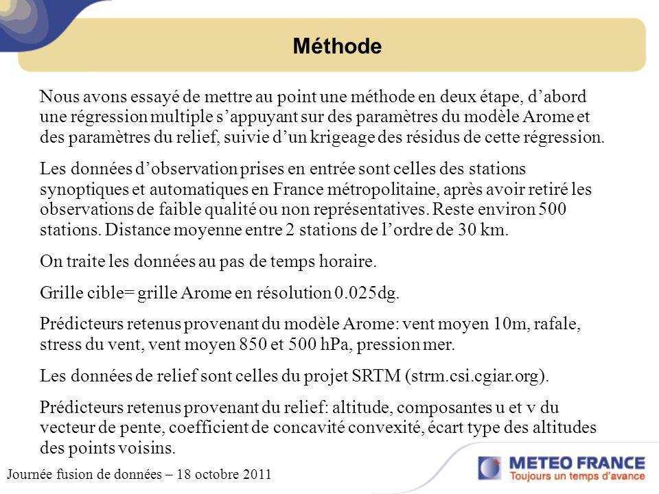 Relief SRTM – vecteur de pente zonal Journée fusion de données – 18 octobre 2011