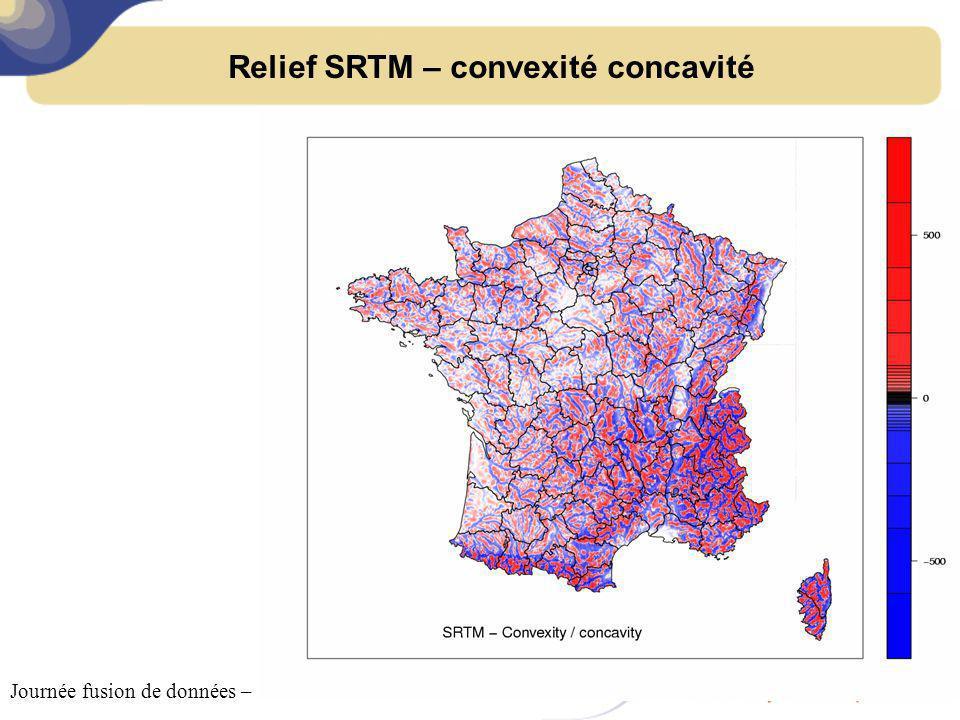 Relief SRTM – convexité concavité Journée fusion de données – 18 octobre 2011