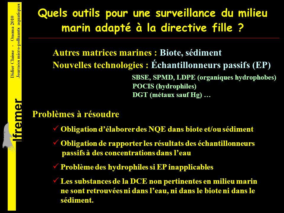 Quels outils pour une surveillance du milieu marin adapté à la directive fille .