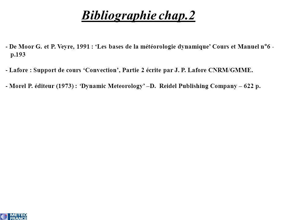 Bibliographie chap.2 - De Moor G. et P. Veyre, 1991 : Les bases de la météorologie dynamique Cours et Manuel n°6 - p.193 - Lafore : Support de cours C