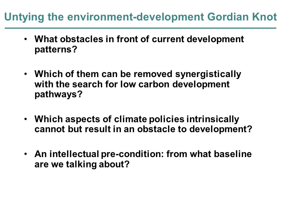 Conventional baselines deny sustainability issues Carbon emissions BaselineClean Development Cost t Development Goals