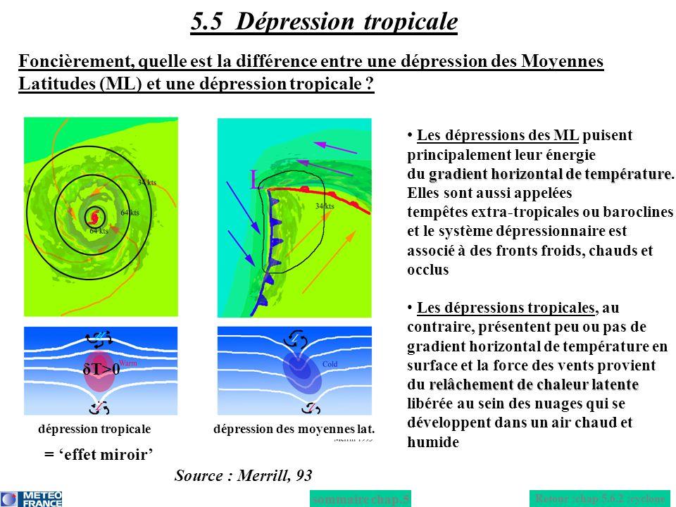 Les dépressions des ML puisent principalement leur énergie gradient horizontal de température du gradient horizontal de température. Elles sont aussi