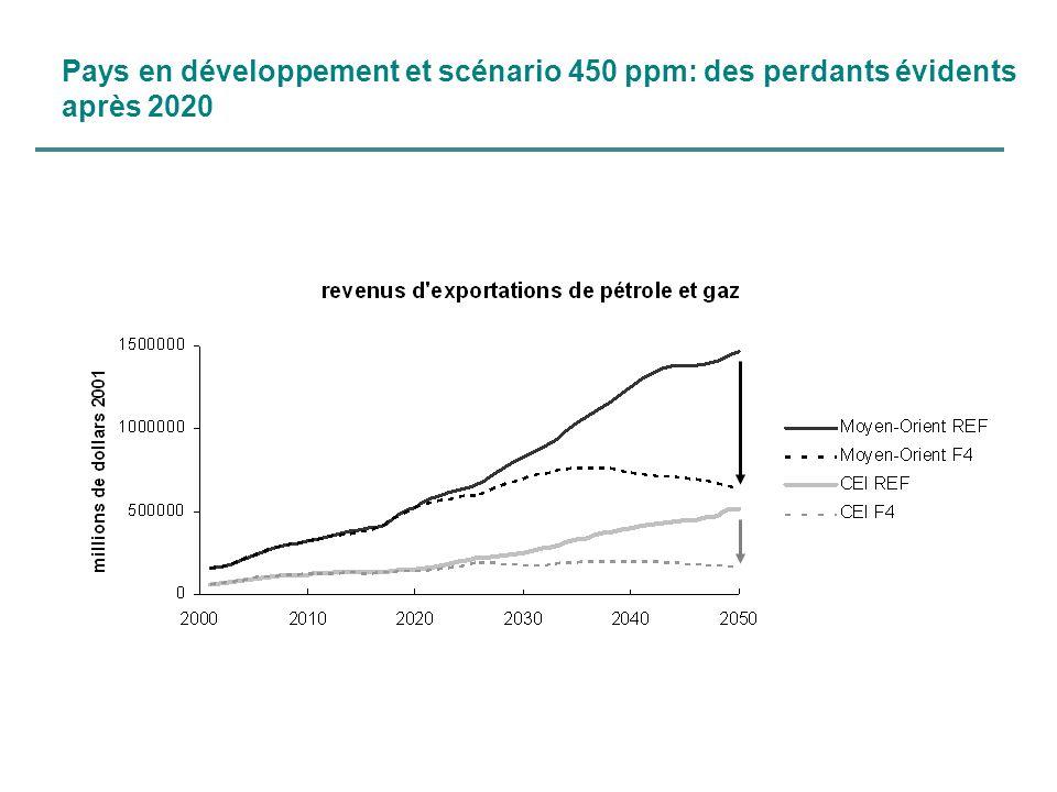 Pays en développement et scénario 450 ppm: des perdants évidents après 2020