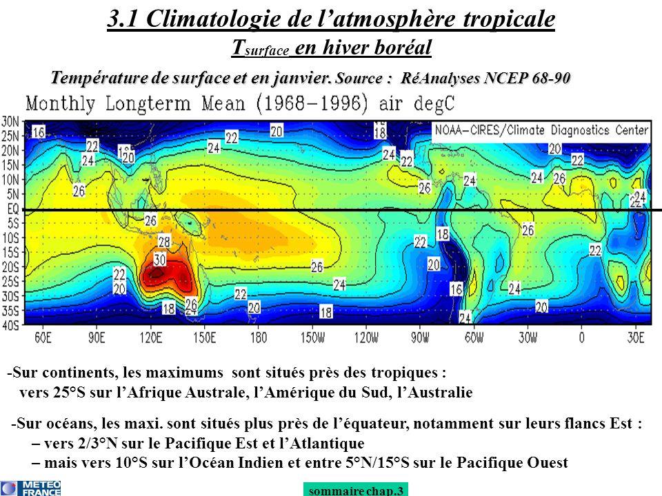 -Sur continents, les maximums sont situés près des tropiques : vers 25°S sur lAfrique Australe, lAmérique du Sud, lAustralie -Sur océans, les maxi. so