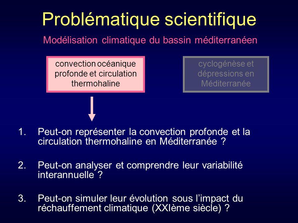 Problématique scientifique 1.Peut-on représenter la convection profonde et la circulation thermohaline en Méditerranée .