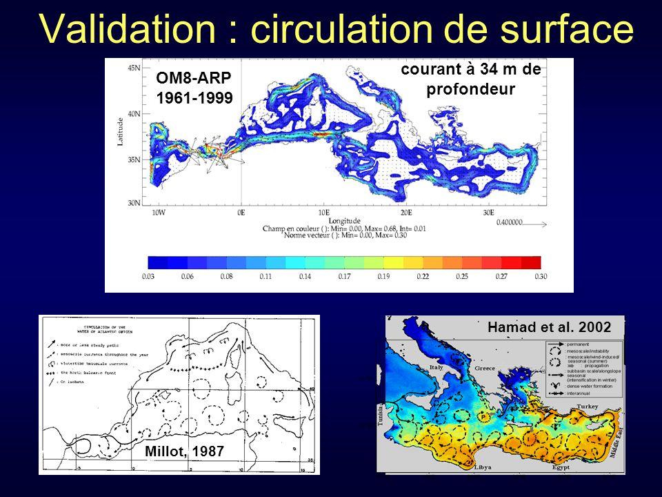 Validation : circulation de surface Hamad et al.