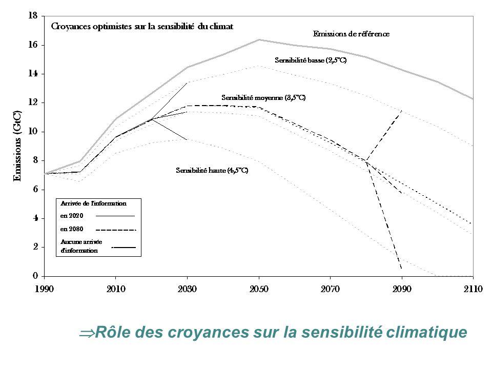 Rôle des croyances sur la sensibilité climatique