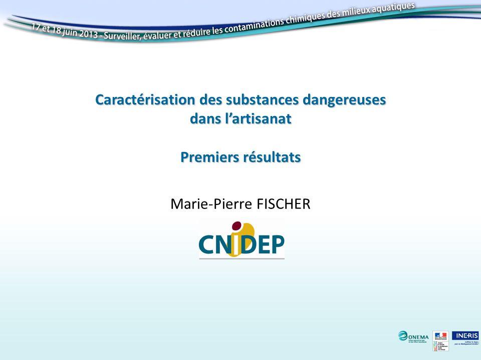 Caractérisation des substances dangereuses dans lartisanat Premiers résultats Marie-Pierre FISCHER