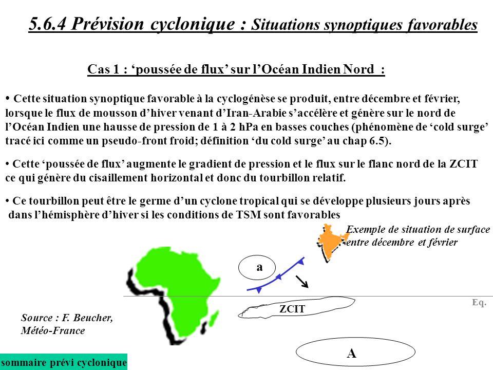 Cette situation synoptique favorable à la cyclogénèse se produit, entre décembre et février, lorsque le flux de mousson dhiver venant dIran-Arabie sac