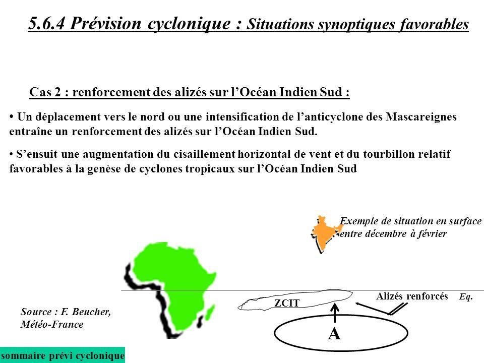 Un déplacement vers le nord ou une intensification de lanticyclone des Mascareignes entraîne un renforcement des alizés sur lOcéan Indien Sud.