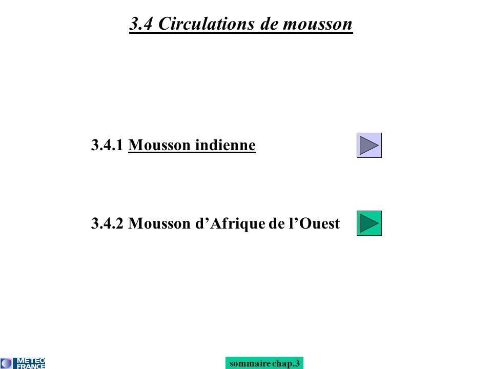 sommaire mousson 3.4.1 Mousson indienne : onset Onset : 1.