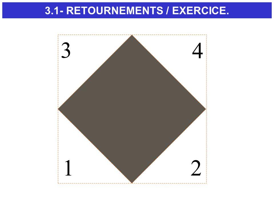 12 3 4 3.1- RETOURNEMENTS / EXERCICE.