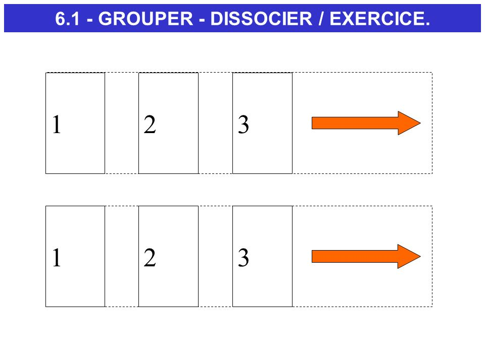123 6.1 - GROUPER - DISSOCIER / EXERCICE. 123