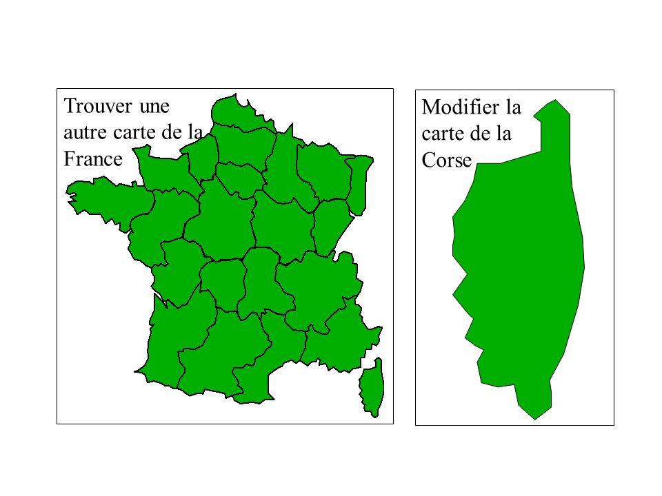 2.2 - IMAGE / CORRIGE. Trouver une autre carte de la France Modifier la carte de la Corse