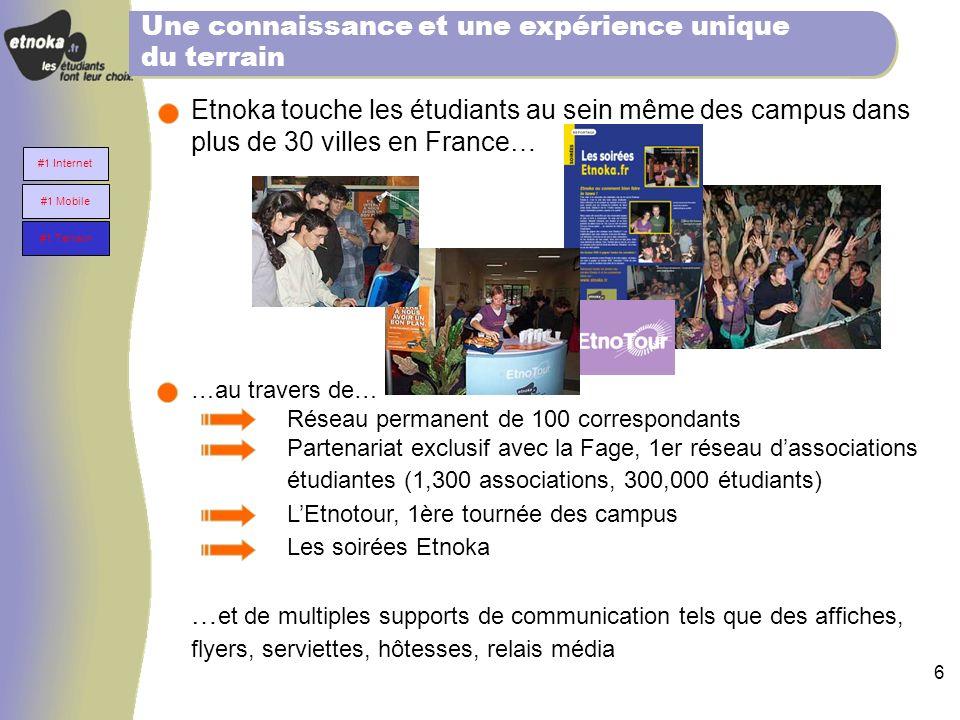 5 Etnoka a développé le premier service mobile étudiant en Europe Etnoka est référencé comme la chaîne étudiante de nombres de bouquets WAP particuliè
