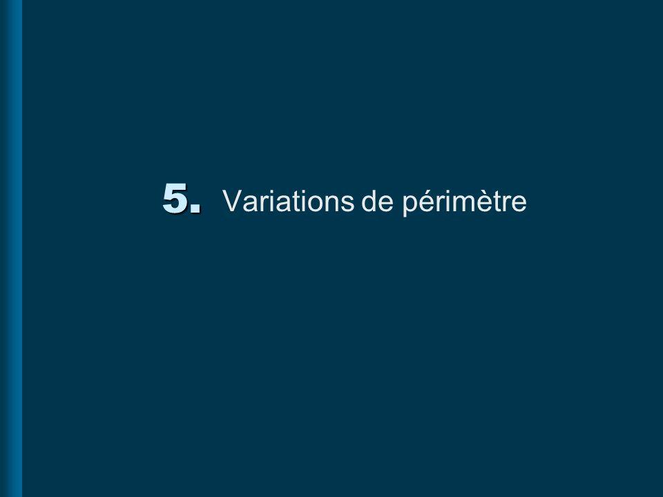 5. Variations de périmètre