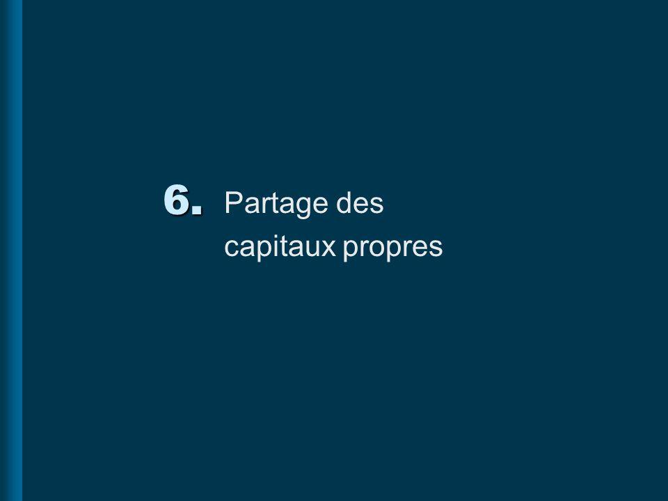 6. Partage des capitaux propres