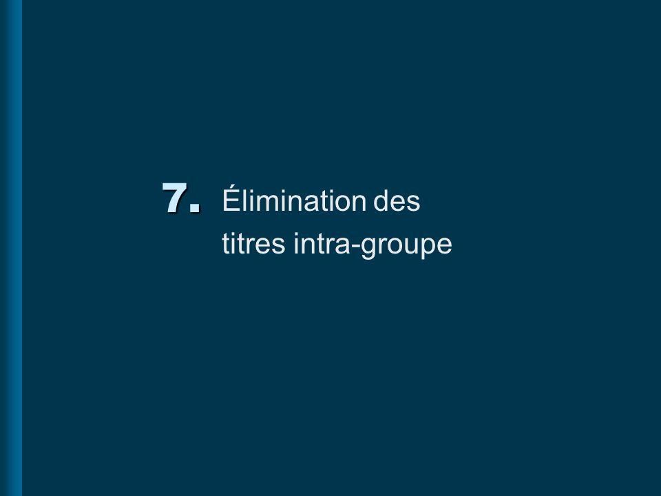 7. Élimination des titres intra-groupe
