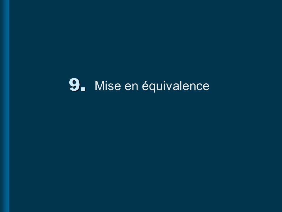 9. Mise en équivalence