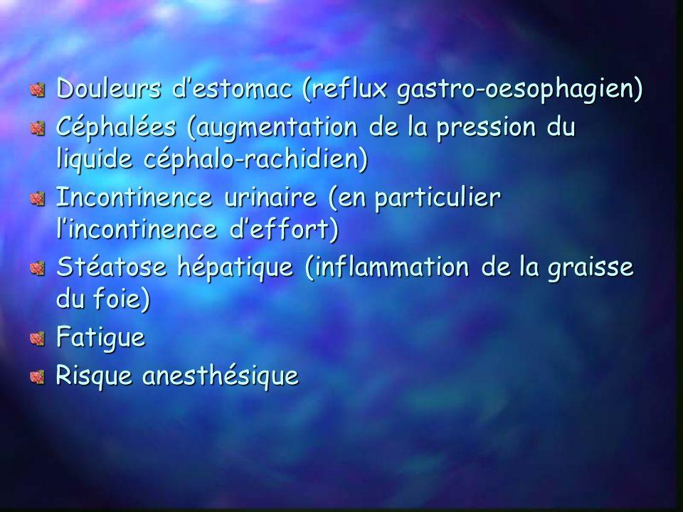 6) Autres complications Cancer: - Augmentation du risque de cancer de lendomètre, de lutérus, des ovaires et du sein chez la femme. - Augmentation du