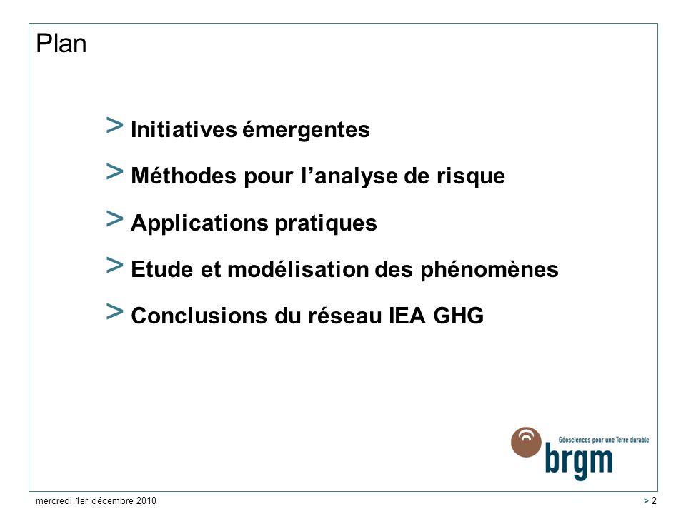 Plan > Initiatives émergentes > Méthodes pour lanalyse de risque > Applications pratiques > Etude et modélisation des phénomènes > Conclusions du rése